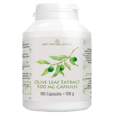 Olive Leaf Extract 500mg Capsules 180 capsules Best Natural Effect UK