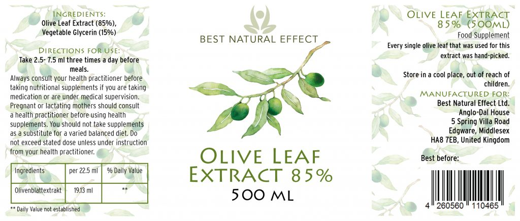 Best Natural Effect | Olive Leaf Extract 85% liquid