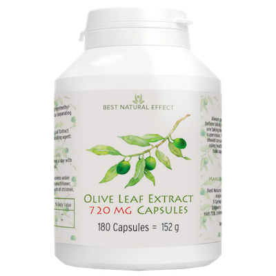 Olive Leaf Extract 720mg Capsules 180 capsules Best Natural Effect UK