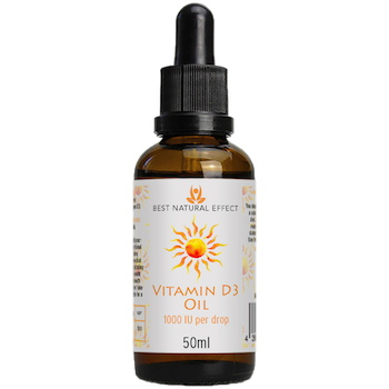 Vitamin D3 Oil 1000IU per drop 50ml Best Natural Effect UK